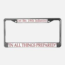 1st Bn 18th Infantry License Plate Frame