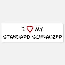 I Love Standard Schnauzer Bumper Bumper Bumper Sticker