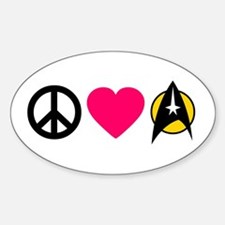 Peace Love Trek Decal