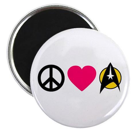 Peace Love Trek Magnet