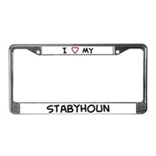 I Love Stabyhoun License Plate Frame