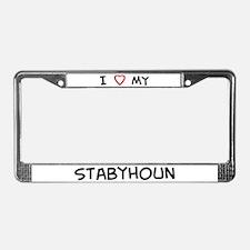 I Love Stabyhoun License Plate Frame