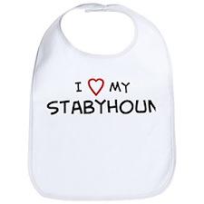 I Love Stabyhoun Bib