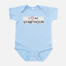 I Love Stabyhoun Infant Creeper