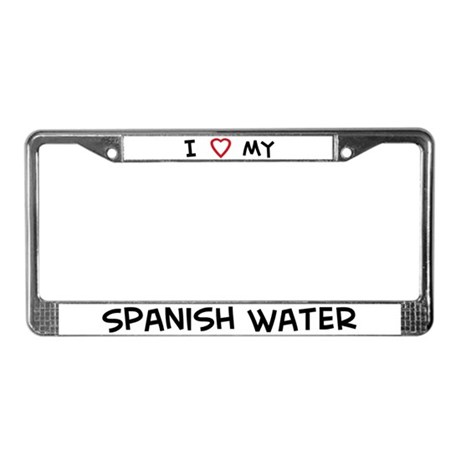 I Love Spanish Water License Plate Frame