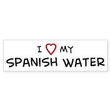 I Love Spanish Water Bumper Bumper Sticker