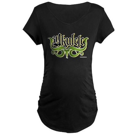 Ukulele Gothic Maternity Dark T-Shirt