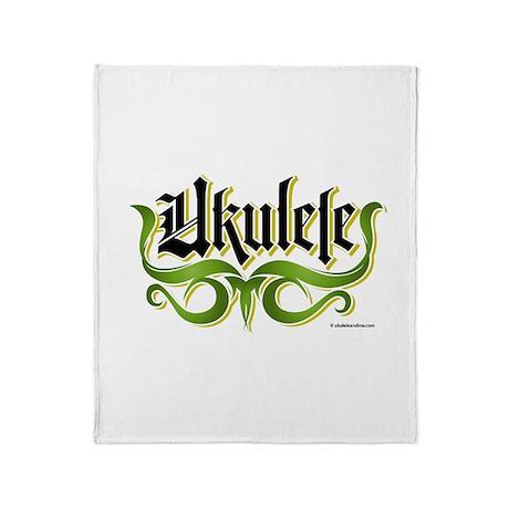 Ukulele Gothic Throw Blanket