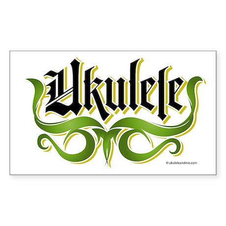 Ukulele Gothic Sticker (Rectangle)