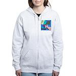 The Famous Dachshund Art Women's Zip Hoodie