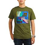The Famous Dachshund Art Organic Men's T-Shirt (da