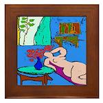 The Famous Dachshund Art Framed Tile