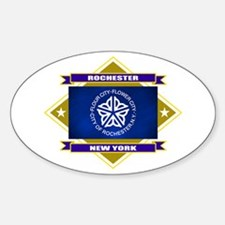 Rochester Flag Sticker (Oval)
