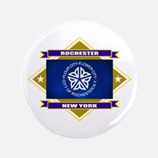 "Rochester Flag 3.5"" Button"