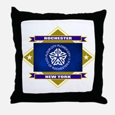 Rochester Flag Throw Pillow