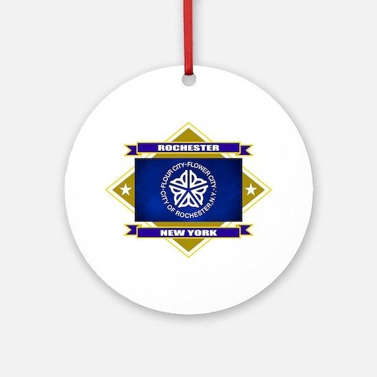 Rochester Flag Ornament (Round)