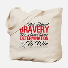Bravery Lung Cancer Tote Bag