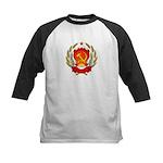 Soviet Russia Coat-of-Arms Kids Baseball Jersey