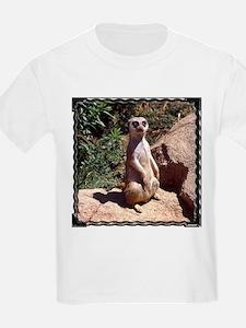 Meerkat On Rock Kids T-Shirt