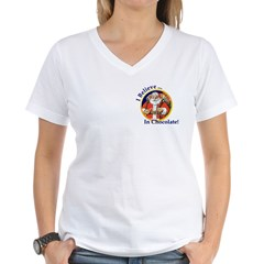 Believe In Chocolate - Women's V-Neck T-Shirt