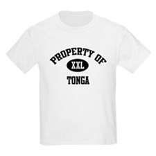 Property of Tonga Kids T-Shirt