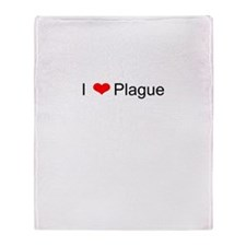 I Love Plague Throw Blanket