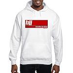 BJJ basics, white on red Hooded Sweatshirt