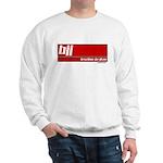 BJJ basics, white on red Sweatshirt