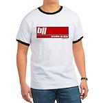 BJJ basics, white on red Ringer T