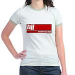BJJ basics, white on red Jr. Ringer T-Shirt