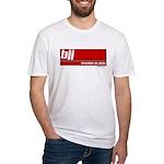 BJJ basics, white on red Fitted T-Shirt