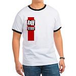 BJJ basics, red white black Ringer T