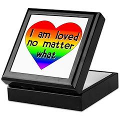 I am loved no matter what Keepsake Box