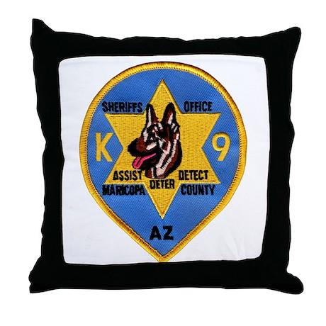 Maricopa Sheriff K9 Throw Pillow