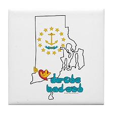 ILY Rhode Island Tile Coaster