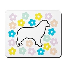 Aussie surrounded by Posies Mousepad