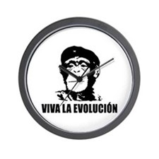 Viva La Evolucion Wall Clock