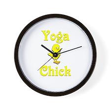 Yoga Chick Wall Clock