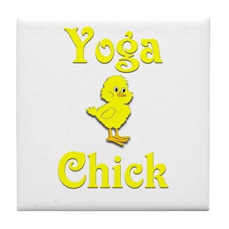 Yoga Chick Tile Coaster