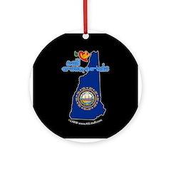 ILY New Hampshire Ornament (Round)