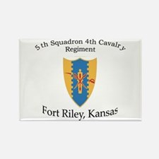5th Squadron 4th Cavalry Rectangle Magnet