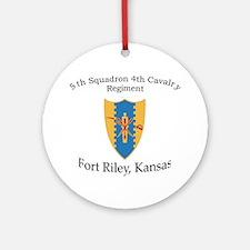 5th Squadron 4th Cavalry Ornament (Round)