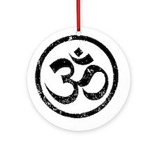 Om Aum Hindu Mantra Ornament (Round)
