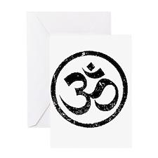 Om Aum Hindu Mantra Greeting Card