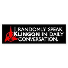 Random Klingon Bumper Sticker
