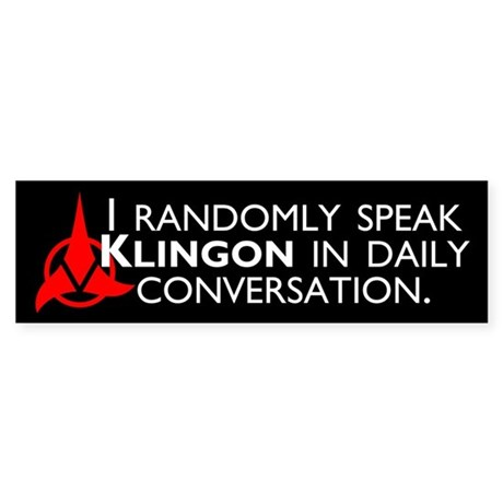 Random Klingon Sticker (Bumper)