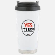 Yes It's Fast Stainless Steel Travel Mug