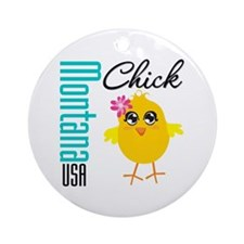 Missouri Chick Ornament (Round)