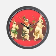 Vintage Rabbits Wall Clock
