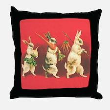 Vintage Rabbits Throw Pillow
